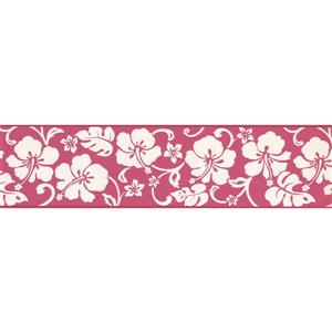 """Chesapeake Abstract Floral Wallpaper Border - 15' x 6"""" - Pink"""