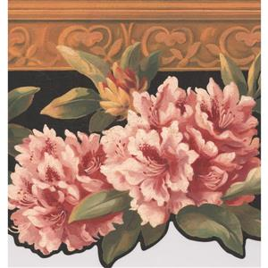 York Wallcoverings Floral Wallpaper Border - 15-ft x 10-in - Pink