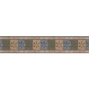 "Chesapeake Geometric Abstract Wallpaper Border - 15' x 4.5"" - Beige"