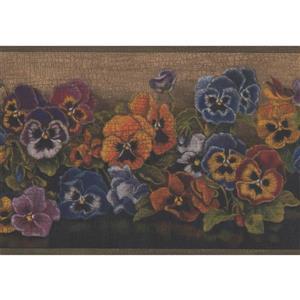 "Chesapeake Flowers Floral Wallpaper Border - 15' x 6.75"" - Brown"