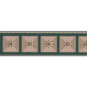 Retro Art Abstract Floral Geometric Wallpaper Border - 15'