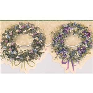 "Chesapeake Wreaths Floral Wallpaper Border - 15' x 6.5"""