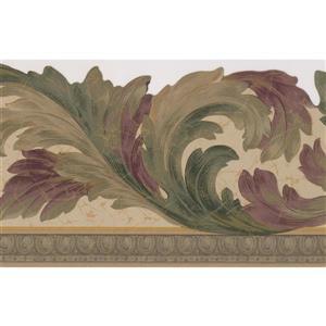 """Retro Art Vines Floral Wallpaper Border - 15' x 7"""" - Green"""