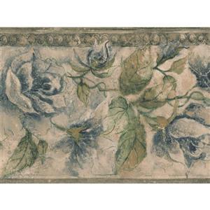 Norwall Bloomed Flowers Wallpaper Border - 15' x 8-in