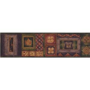 "Chesapeake Abstract Shapes Floral Wallpaper Border - 15' x 6.75"""