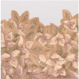 York Wallcoverings Vintage Floral Wallpaper Border - 15-ft x 9.25-in - Brown