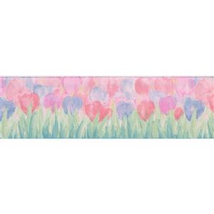 Norwall Floral Wallpaper Border - 15' x 7-in- Multicolour