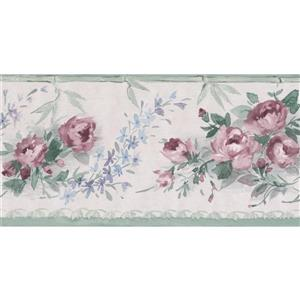 Norwall Blooming Roses Floral Wallpaper Border - 15' x 4.25-in- Pink