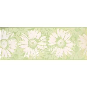 York Wallcoverings Abstract Flowers Wallpaper Border - 15-ft x 9.5-in - Green