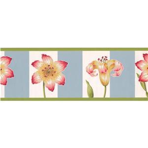 York Wallcoverings Flowers Wallpaper Border - 15-ft x 8.5-in - Yellow