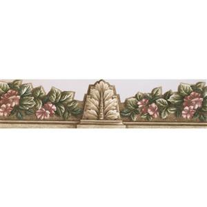 Norwall Floral Wallpaper Border - 15' x 7-in- Gray