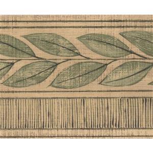 Norwall Green Leaves Wallpaper Border - 15' x 4.18-in- Green