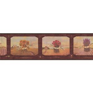 "Chesapeake Sunflowers Wallpaper Border - 15' x 7"" - Multicolour"