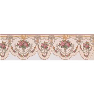 """Retro Art Floral Victorian Wallpaper Border - 15' x 6.5"""""""
