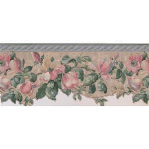 "Retro Art Flowers Wallpaper Border - 15' x 10.2"""