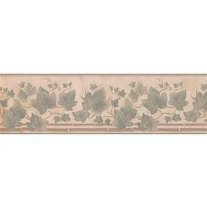 "Retro Art Sage Leaves Wallpaper Border - 15' x 7"" - Sage"