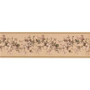"Retro Art Flowers Wallpaper Border - 15' x 7"" - Multicolour"