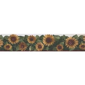 Norwall Sunflower Floral Wallpaper Border - 15' x 5.75-in