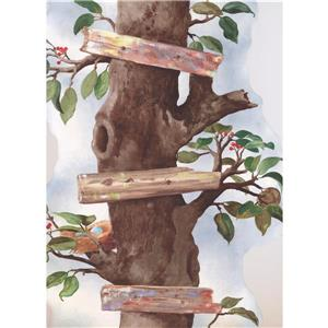 York Wallcoverings Stylish Cherry Tree Wallpaper Border - 15-ft x 21-in