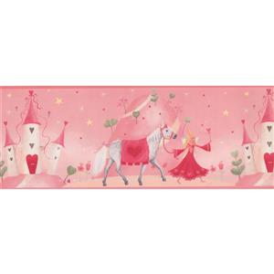 York Wallcoverings Princess Castle Wallpaper Border - 15-ft x 9-in - Pink