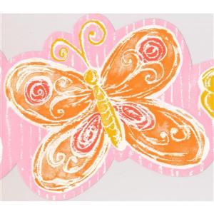 York Wallcoverings Butterflies Wallpaper Border - 15-ft x 7-in - Orange