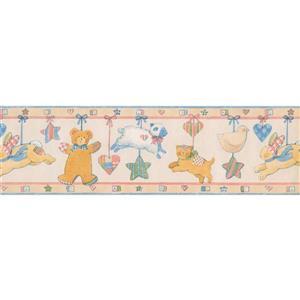 Norwall Stars Hearts Wallpaper Border - 15' x 7-in- Beige