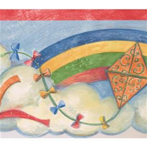 Norwall Kites Wallpaper Border - 15' x 7-in- Multicolour