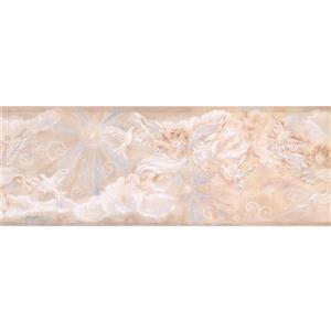 "Chesapeake Cupid Dove Clouds Wallpaper Border - 15' x 8.5"" - Beige"