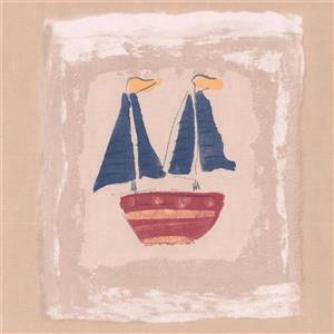 York Wallcoverings Ship on Postcards Wallpaper Border - 15-ft x 7-in - Sepia