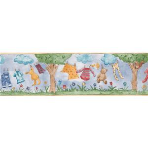 Norwall Clothes Toys Wallpaper Border - 15' x 7-in- Blue