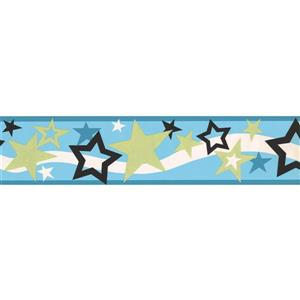 York Wallcoverings Sparkling Daffodil Wallpaper Border - 15-ft x 5.5-in - Blue