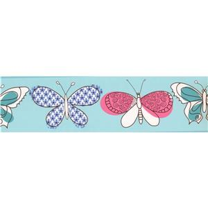 York Wallcoverings Butterflies Wallpaper Border - 15-ft x 6.75-in - Blue