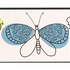 York Wallcoverings Butterflies Wallpaper Border - 15-ft x 6.75-in - Gray