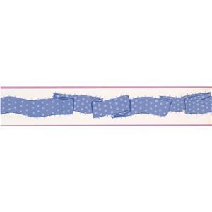 York Wallcoverings Stripe Wallpaper Border - 15-ft x 4.75-in - Violet