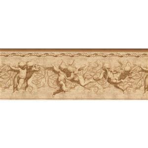 Norwall Vintage Winged Cupids Wallpaper Border - 15' x 8.25-in- Beige