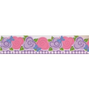 Norwall Butterfly Wallpaper Border - 15' x 5-in- Pink