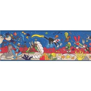 "Retro Art Looney Tunes Wallpaper Border - 15' x 8.25"" - Multicolour"