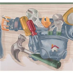 York Wallcoverings Tool Belt with Screwdriver - 15-ft x 10.25-in - Gray