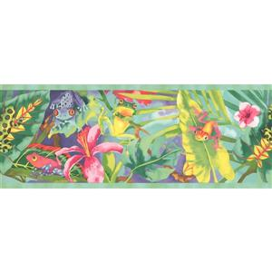 York Wallcoverings Frogs and Flowers Wallpaper Border - 15-ft x 9-in