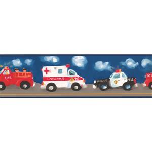 York Wallcoverings Police Ambulance Firetruck Wallpaper Border - 15-ft x 7-in