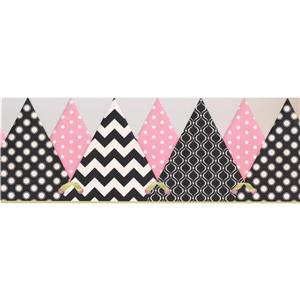 York Wallcoverings Abstract Triangles Wallpaper Border - 15-ft x 8.5-in - Black