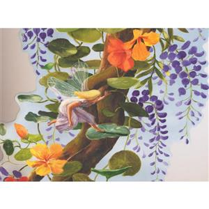 York Wallcoverings Beautiful Tree with Elf Wallpaper Border - 15-ft x 20-in