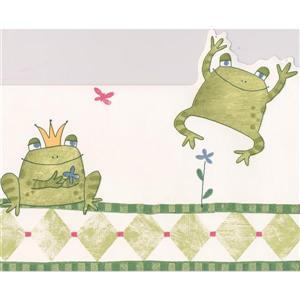 York Wallcoverings Frogs Wallpaper Border - 15-ft x 6.75-in - Green