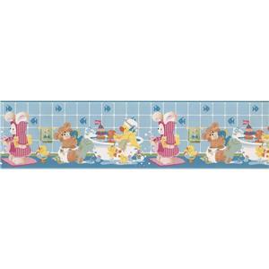 York Wallcoverings Teddy Bears Plush Toys Wallpaper Border - 15-ft x 6-in - Blue
