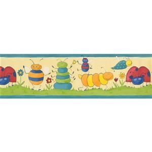Norwall Bugs Wallpaper Border - 15' x 7-in- Yellow