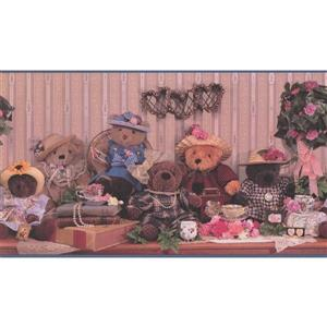 "Retro Art Plush Dolls Wallpaper Border - 15' x 13.5"" - Multicolour"