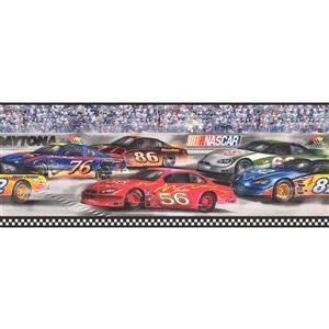 York Wallcoverings NASCAR Race Track Wallpaper Border - 15-ft x 9-in - Multicolour