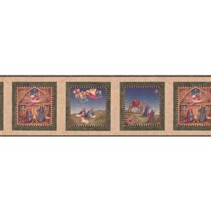 "Chesapeake Christian Religious Wallpaper Border - 15' x 7"" - Beige"
