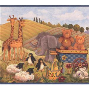 """Chesapeake Country Life Farmhouse Wallpaper Border - 15' x 8.25"""""""