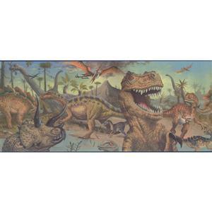 """Retro Art Ancient Jungle Wallpaper Border - 15' x 10.25"""" - Multicolour"""